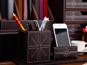 Leather office products